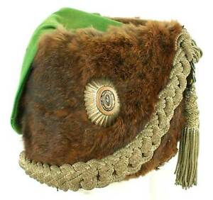 RARE - RUSSIAN IMPERIAL HUSSAR REGIMENT BUSBY, HAT