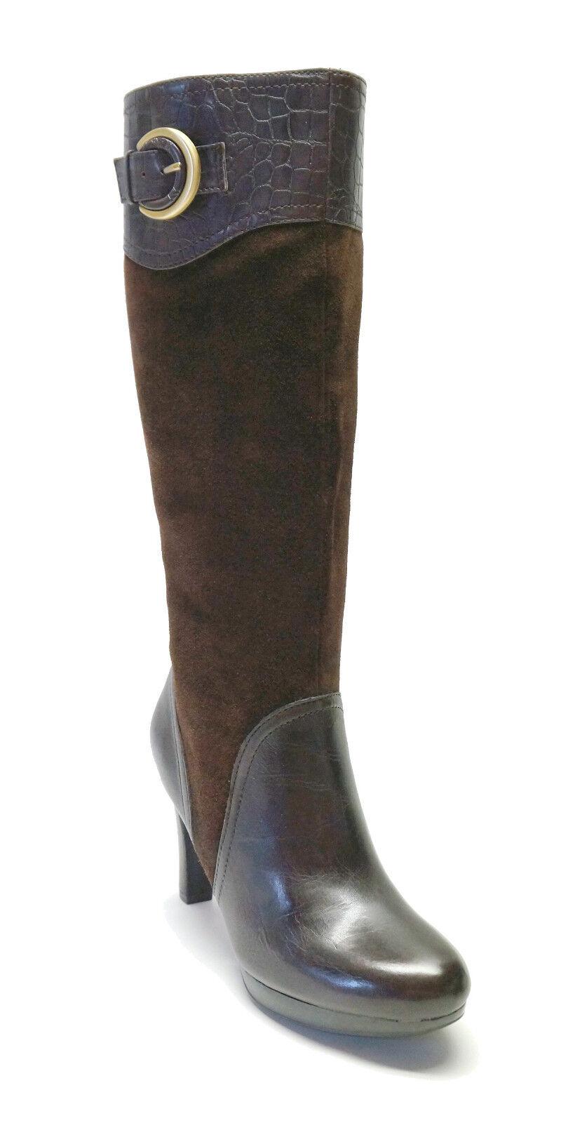 Naturalizer  189 Cuero Cuero Cuero Marrón botas Altas Ilaz para mujeres Zapatos  Sin impuestos