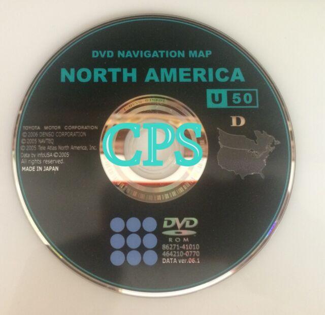 2007 2008 2009 Toyota Avalon U50 D Navigation DVD Version 61 Map US Canada