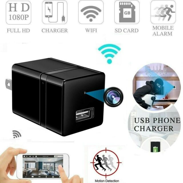 1080P Camera SpyCamera USB Wall Charger Adapter Video 128GB Security Recorder