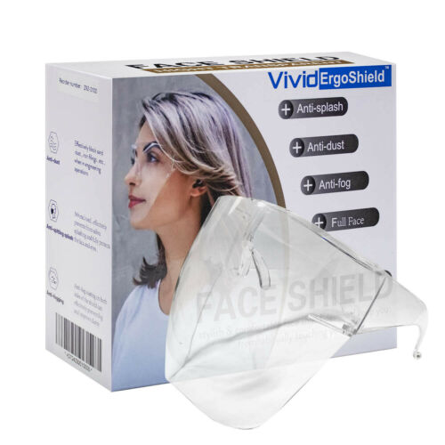 US Face Shield Protective Face Cover Transparent Glasses Visor Anti-Fog clear