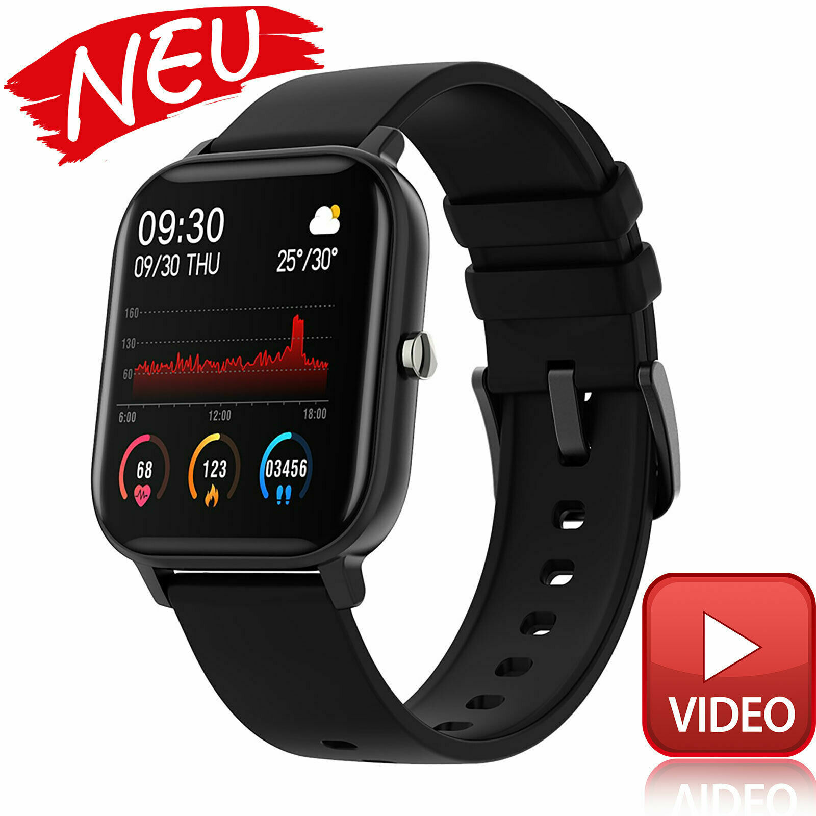 For Samsung HUAWEI Smart watch blood pressure Fitness Trackers Sport Bracelet blood Featured fitness for huawei pressure samsung smart sport trackers watch