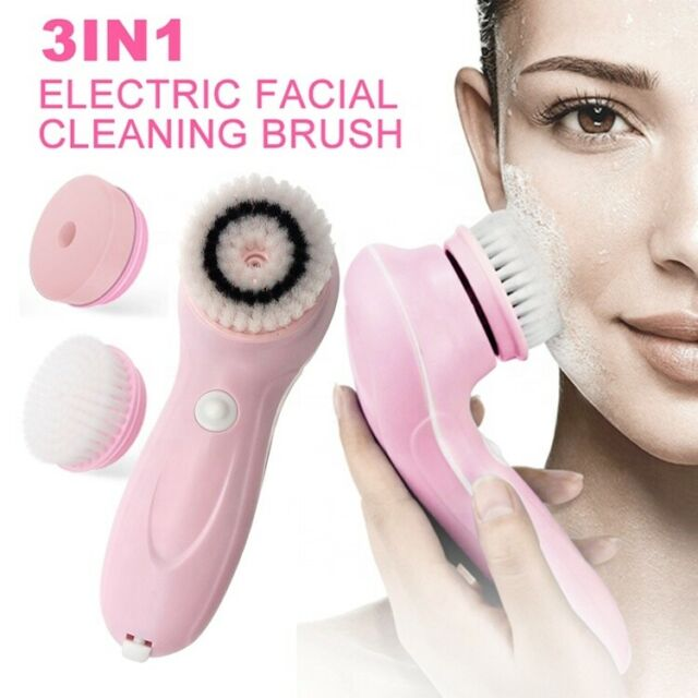 Professional Facial Cleanser Brush Scrub Sponge Electric Face Cleaning Set For Sale Online Ebay