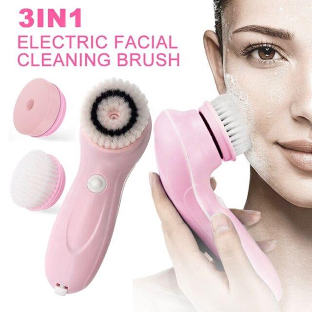 Professional Facial Cleanser Brush Scrub Sponge Electric Face