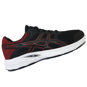 ASICS-MENS-Shoes-Gel-Excite-5-Black-Black-amp-Classic-Red-T7F3N-9090