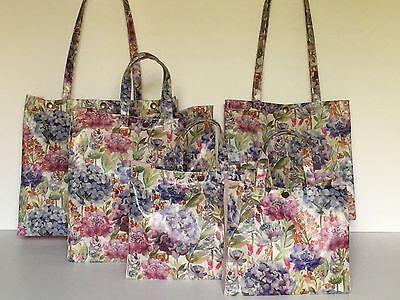Handmade Oilcloth Bags /'Voyage/' Morning Chorus in Matt by Nikki/'s Original Totes