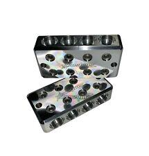 Pair ILL Customz 10 1//0 AWG 0 Gauge Car Audio Battery Terminal Blocks BOLT DOWN