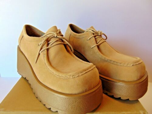 CITY SNAPPERS Vintage Platform Retro 1980's Shoes COLOR CAMEL Choose Your Size