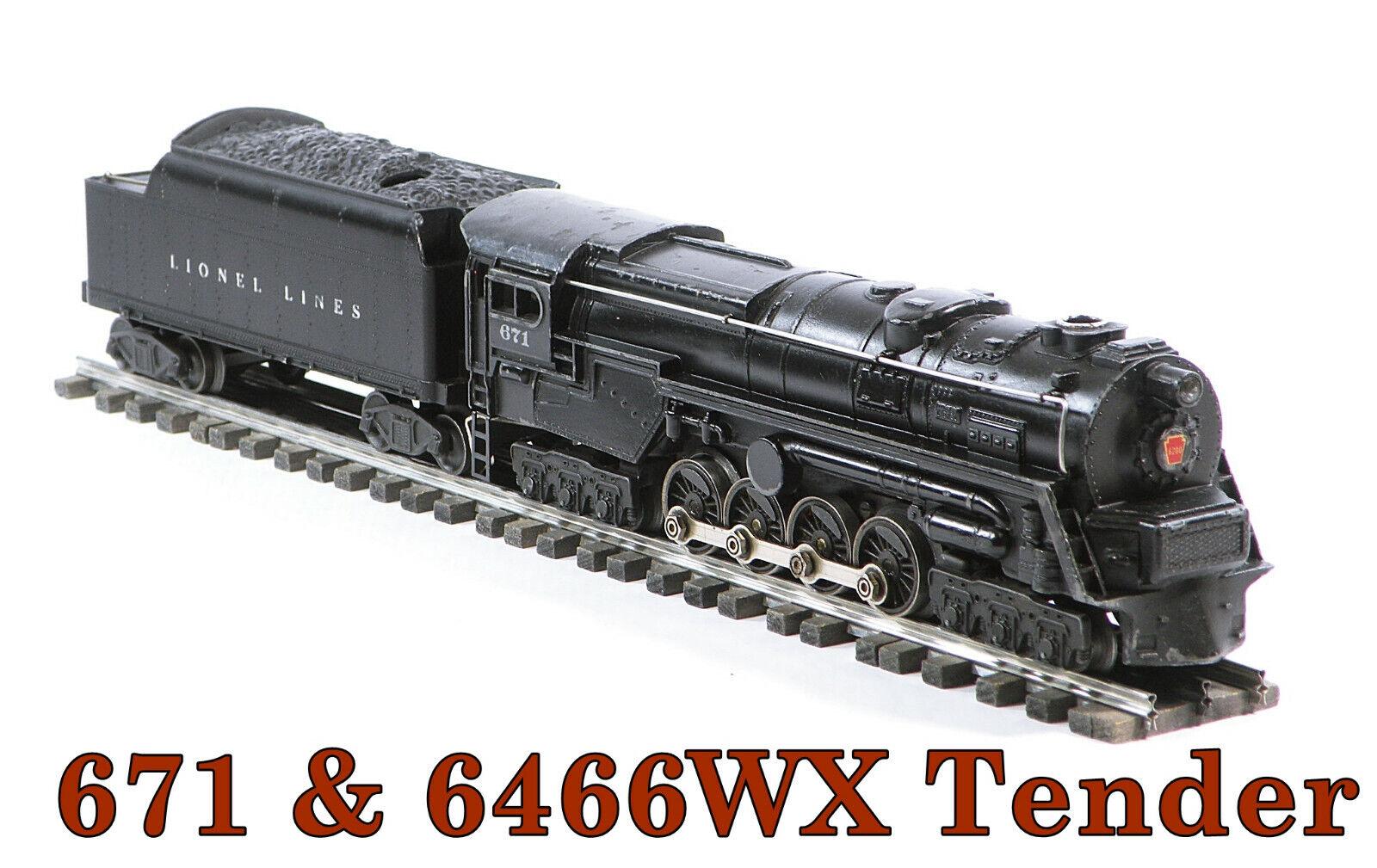 Lionel PW Turbine & 6466WX Tender Steam Loco (5) 1946
