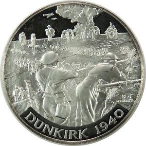 1940-WWII-DUNKIRK-999-SILVER-MEDAL-BRITANNIA-COMMEMORATIVE-SOCIETY-090720