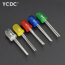 100pcs 5mm Led Emitting Diodes Light Round Head Lamp Beads 5 Colors Assorted 1e