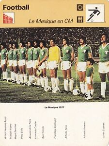 FOOTBALL-carte-fiche-photo-equipe-MEXIQUE-1977