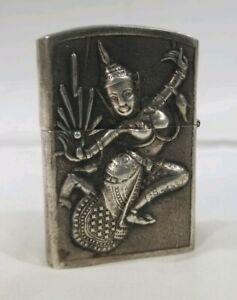 Vintage-Siam-Sterling-Silver-Lighter-Hindu-Deities-MT