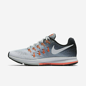 Nike Ladies Big Size Shoes Air Zoom Pegasus 33 Black/White Grey