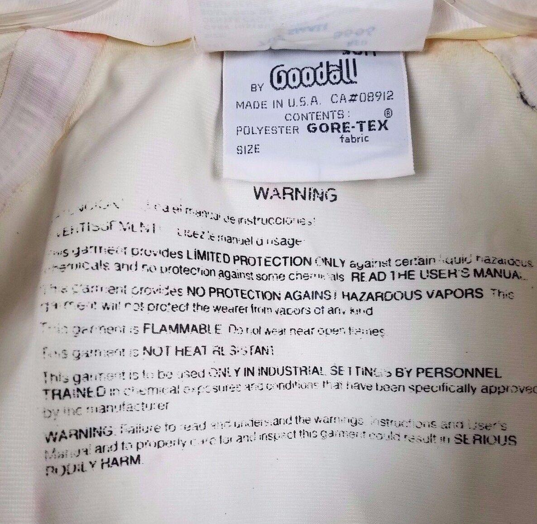 Exotherm Anzug von Goodall Gore-Tex Laminat Laminat Laminat Schützende Einteiler Rot HERREN S 49cd5f