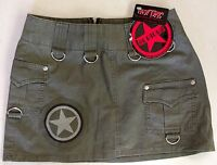 Hot Topic Army Green Skirt Patch Military Punk Serious Clothing Small Xs