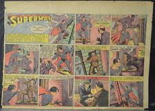 SUPERMAN SUNDAY COMIC STRIP #10 Jan 7, 1940 2/3 FULL Page DC Comics RARE