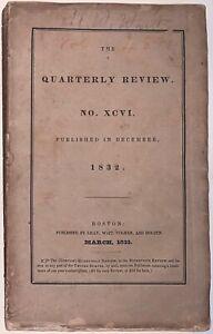 1832, QUARTERLY REVIEW No XCVI, PHILOSOPHY, SPIRITUALITY, MAGIC, PERIODICAL