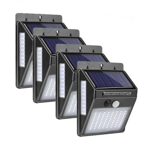Lumière Solaire Jardin 100//180 LED Lampe Eclairage Capteur de Mouvement Étanche