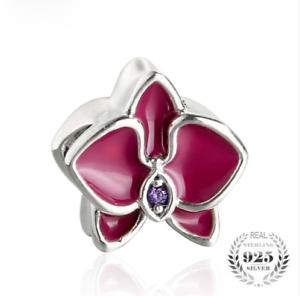 charms pandora orchidee