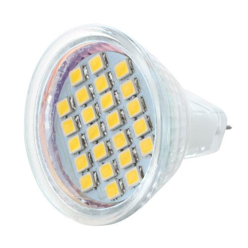 MR11 24 3528 SMD LED Lampe Spot Strahler Leuchtmittel Warmweiss 12V K5E7 VG