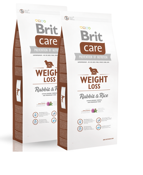 2x12kg Brit Care Weight Loss Rabbit & Rice Hundefutter
