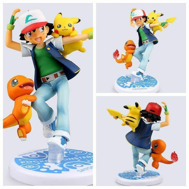 pokemon go action figure toy nendoroid ash ketchum pikachu