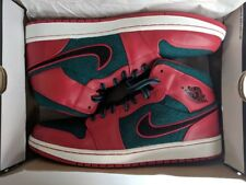 4fe618e69aef2e Nike Air Jordan 1 Mid Mens 633206-608 Red Dark Sea Basketball Shoes ...