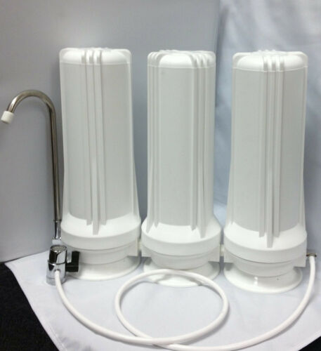 Countertop 3 Stage -Chlorine,Sediment Fluoride Arsenic Removal Water Filters