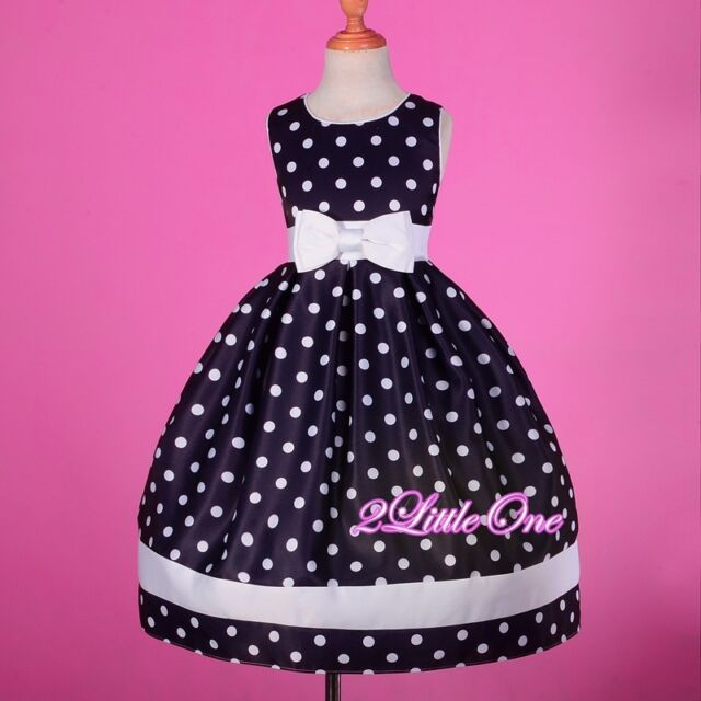 Polka Dot Scoop Dress Girl Pageant Party Birthday Holiday Formal Size 4-10 #235