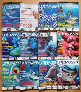 12x-Unterwasser-2004-Jahrgang-Zeitschrift-Sport-Meere-Tiere-Urlaub-Tauchen