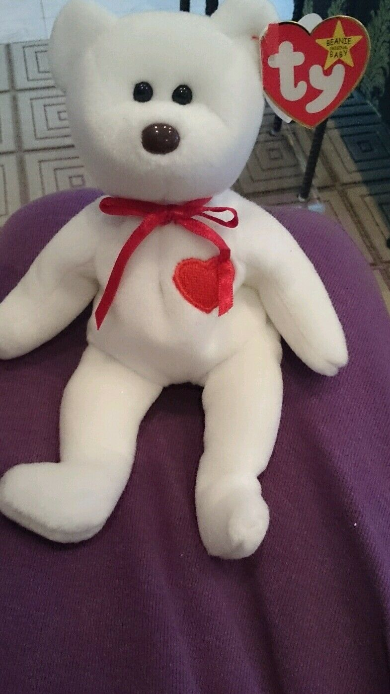 TY Beanie Baby Valentino Date of Birth February 14,1996 Mint