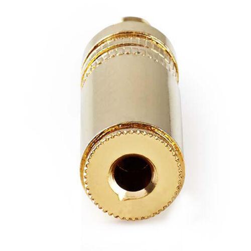 6x 3,5mm Klinke Audio Buchse Stereo Gold Knickschutz Löten Klinkenstecker Metall