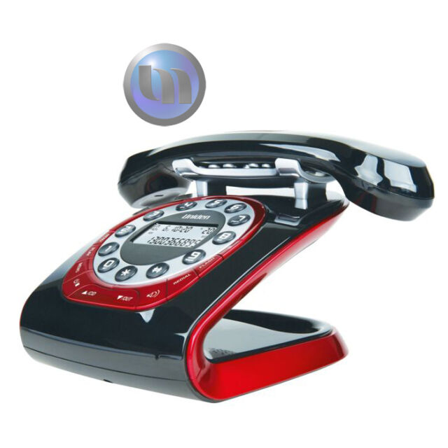UNIDEN Retro Style Digital Cordless Phone System - Black - (WiFi) Network Friend