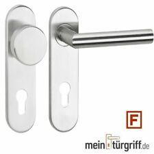 ToniTec® Feuerschutz-Rosetten-Wechselgarnitur U-Form PZ Edelstahl Rosetten