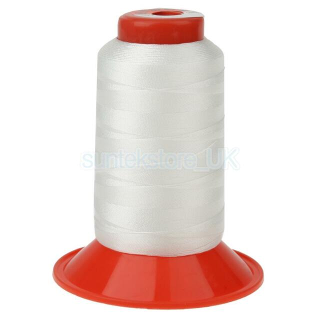 Extra Strong Upholstery Thread Bonded Nylon Sewing Spool 500 Meters White