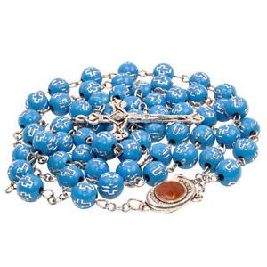 Catholic-Blue-Rosary-Beads-Decorated-Crucifixion-amp-Holy-Soil-from-Jerusalem-20-034