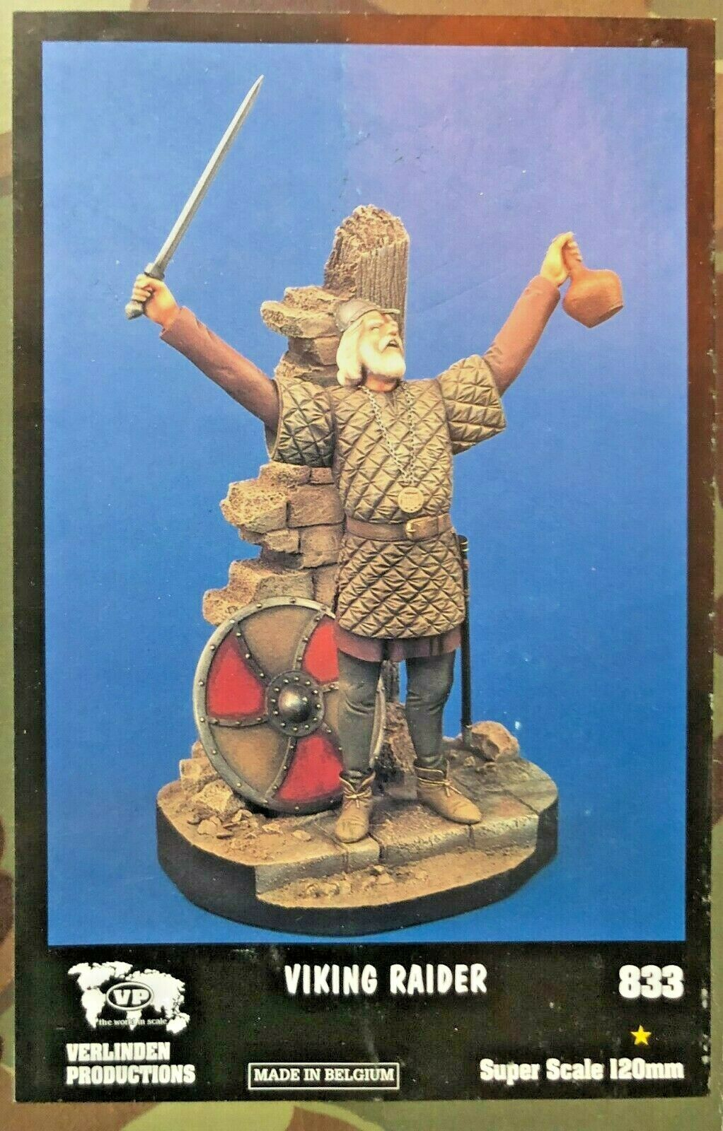 120MM 1 16 RESIN FIGURE VERLINDEN 833 VIKING RAIDER. NEW.