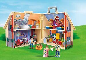 Playmobil-Maison-de-Poupees-Ensemble-en-Forme-Boitier-Jouet-Enfant-Fille