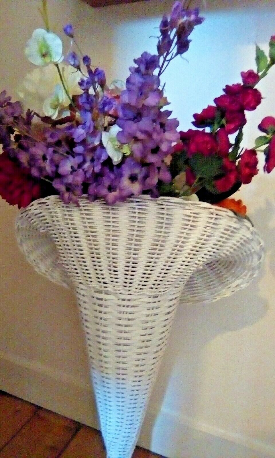 Decorative Floor Standing Vase With Artificial Flowers And Twigs 8x26 Cm Ceram For Sale Ebay
