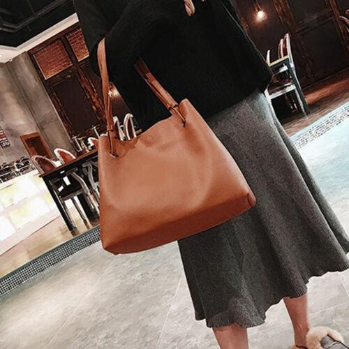 4pcs Women Pu Leather Handbag Shoulder Bags Tote Purse Messenger Card Holder