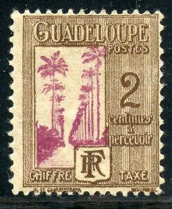 STAMP-TIMBRES-COLONIES-FRANCAISES-NEUF-GUADELOUPE-TAXE-N-25-Charniere