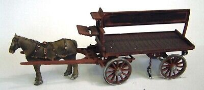 Langley Models Farm Cart 2 Shire horses Carter OO Scale UNPAINTED Kit G26