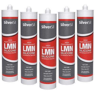 5 x Silicone Sealant White 300ml Silversil Bathroom ...