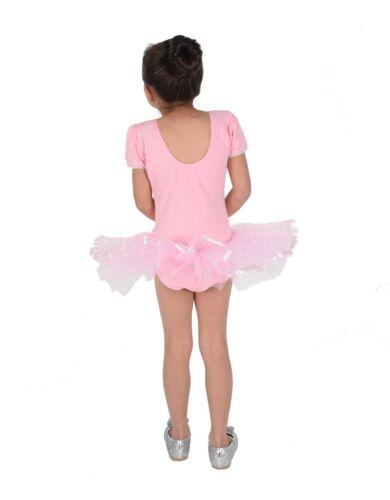 Girls Pink Princess Ballet Dress Dance Tutu Dress 2 3 4 5 6 7 8 Years