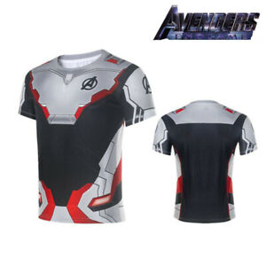 Camiseta-Mujer-Hombre-Avengers-4-End-Game-Capitain-America-3D-Superheroe-Tops