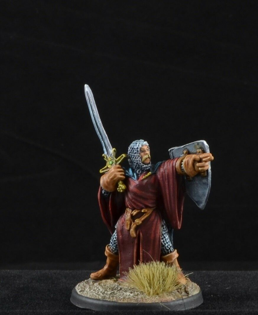 Painted Painted Painted Paladin with sword from Reaper Miniatures