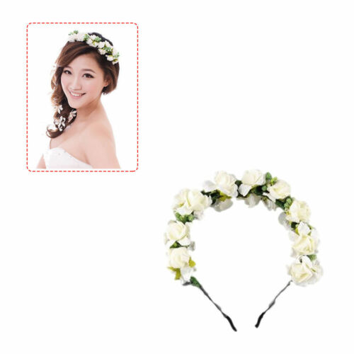 Boho Flower Crown Festival Flower Headband Wedding Garland Floral Hairband Gift