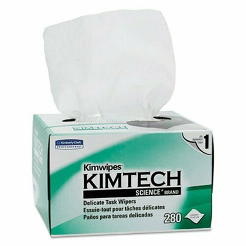 30 Boxes Dry Wipes KCC34120 White 1-Ply Kimwipes Delicate Task Wipers