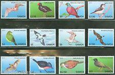 SAMOA 2013 BIRDS DEFINITIVES GROUP OF TWELVE  MINT NH AS SHOWN